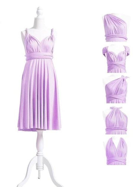 multiway affordable wedding bridesmaid dress lilac