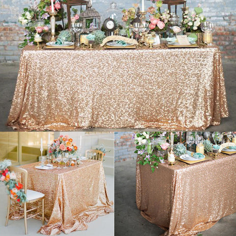full sequin table cloth