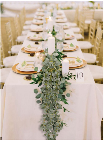 eucalyptus chain wedding decoration artificial greenery table decor