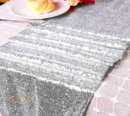 wedding decoration table runner sequin