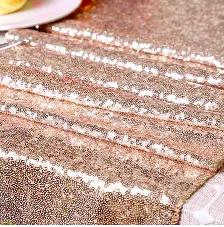 sequin wedding decoration table runner