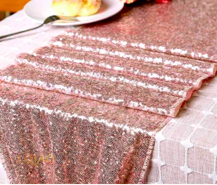 sequin table runner wedding engagement party decoration
