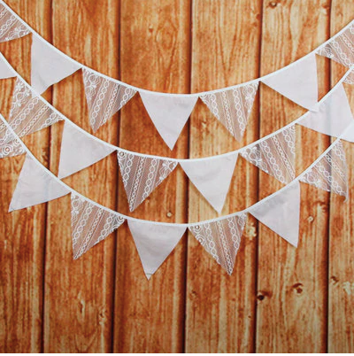 lace bunting rustic and boho wedding decoration