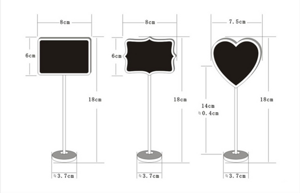 mini chalkboard set wedding table settings and name place plates measurements