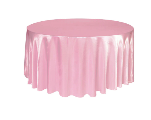 round satin tablecloth