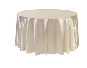 satin round wedding table cloth champagne