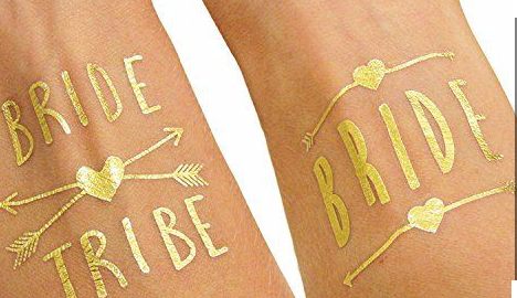 bride to be metallic tattoos