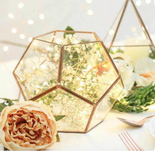 wire led lights centrepiece wedding venue decoration fairy lights