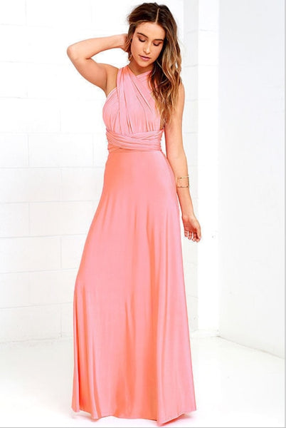 infinity multiway bridesmaid dress pink rose
