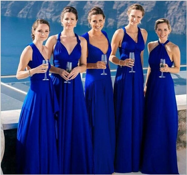 infinity multiway bridesmaid dress royal blue