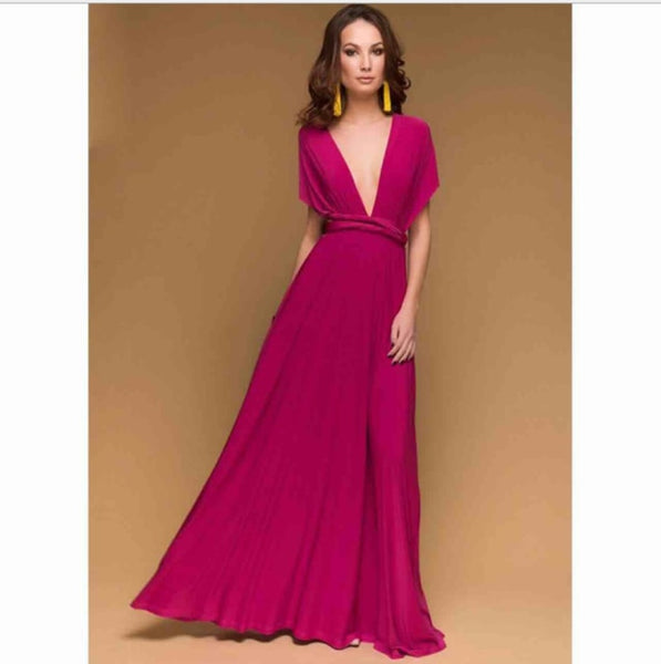 bridesmaid infinity dress multiway pink