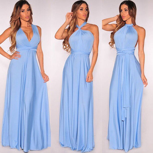 bridesmaid infinity dress multiway blue