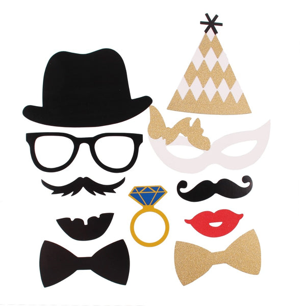 wedding engagement hen bachelorette photo booth props
