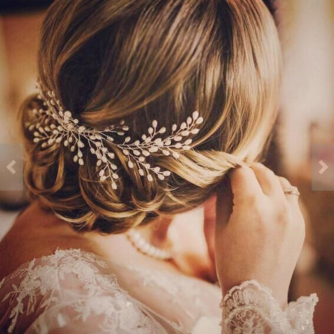 vintage pearl mix hair accessory