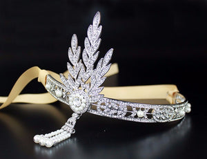 great gatsby 1920 bridal hair accessory head band