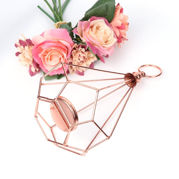 rose gold diamond tealight candle holder