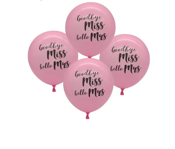 miss to mrs balloon bachelorette hen engagement bridal shower parties pink