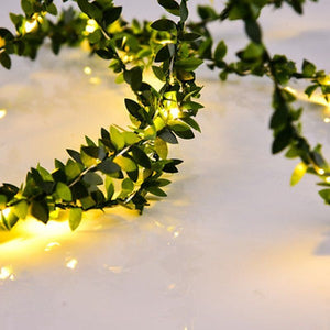 fairy light leaf garland