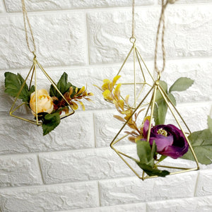gold hanging terrarium wedding venue decoration