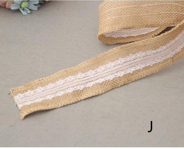 hessian burlap and lace ribbon