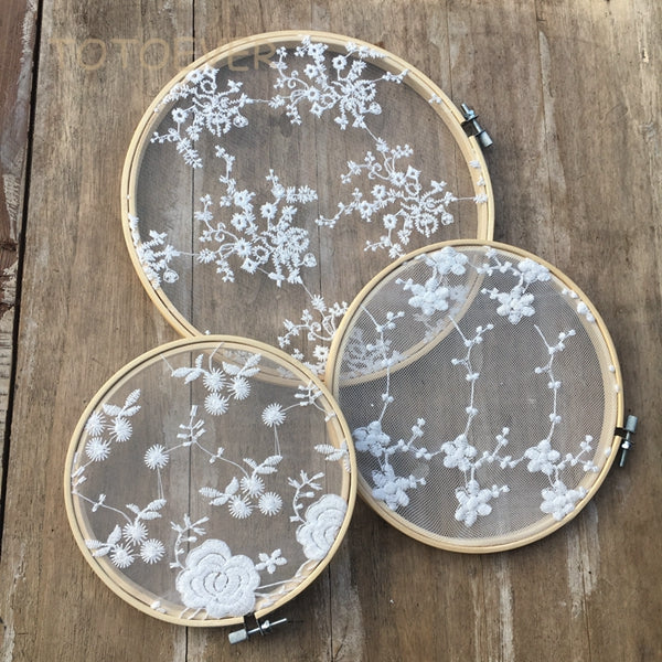 Lace Embroidery Hoops (3pc)