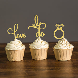 Glitter Cupcake Toppers