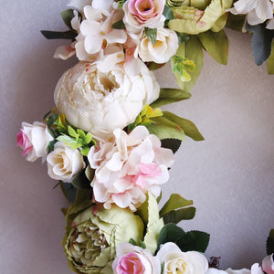 wedding peony wreath artificial flowers