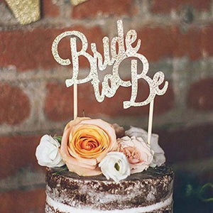 'bride to be' glitter cake topper