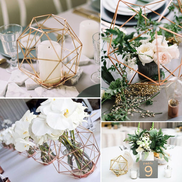 industrial geometric pieces centrepieces