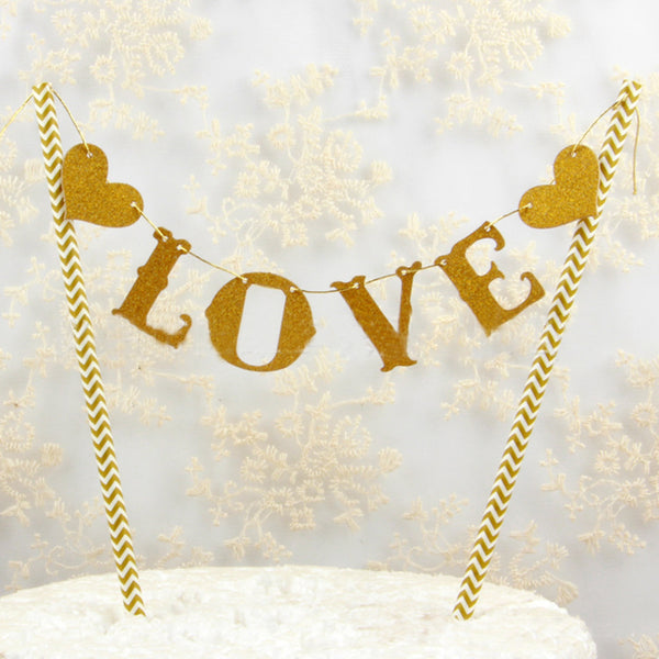 love cake topper wedding engagement party decoration