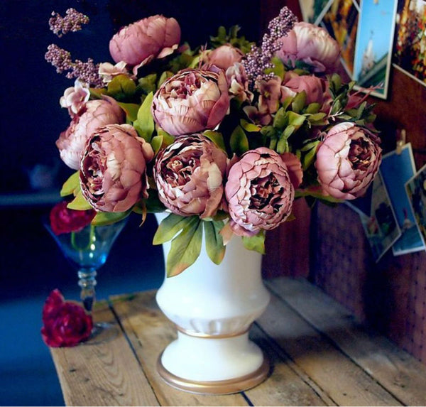 bunch of peony flowers peonies for affordable wedding flowers dark pink