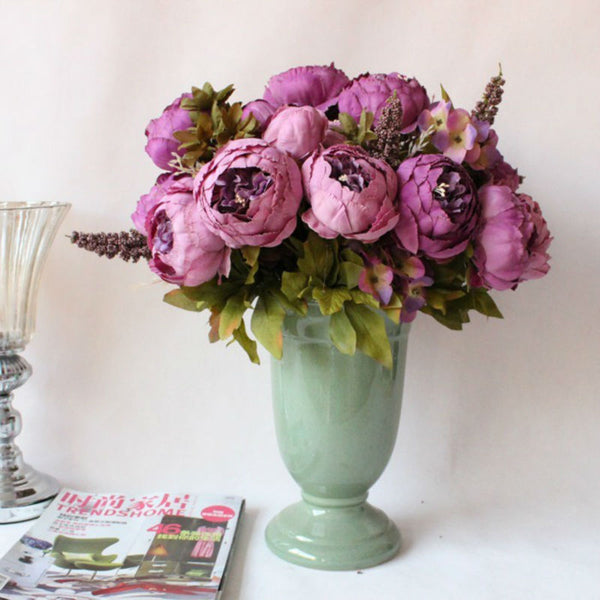 bunch of peony flowers peonies for affordable wedding flowers purple