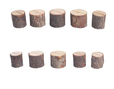 10 wood effect wedding table setting name place card holders