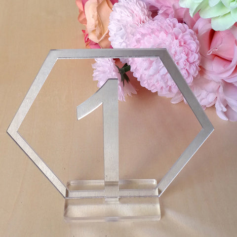 affordable wedding acrylic mirror table numbers