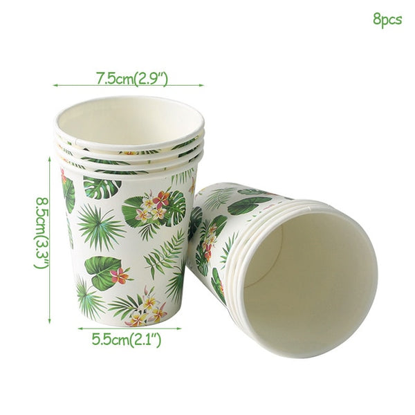 hawaiian party package paper cups