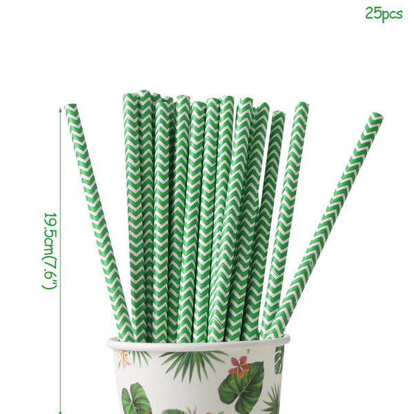hawaiian party package straws bridal shower