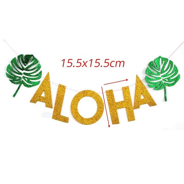 hawaiian party package decorations