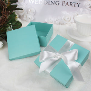 tiffany blue wedding favor gift box