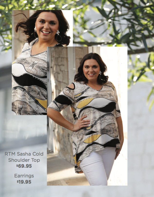 RTM Sasha Cold Shoulder Top