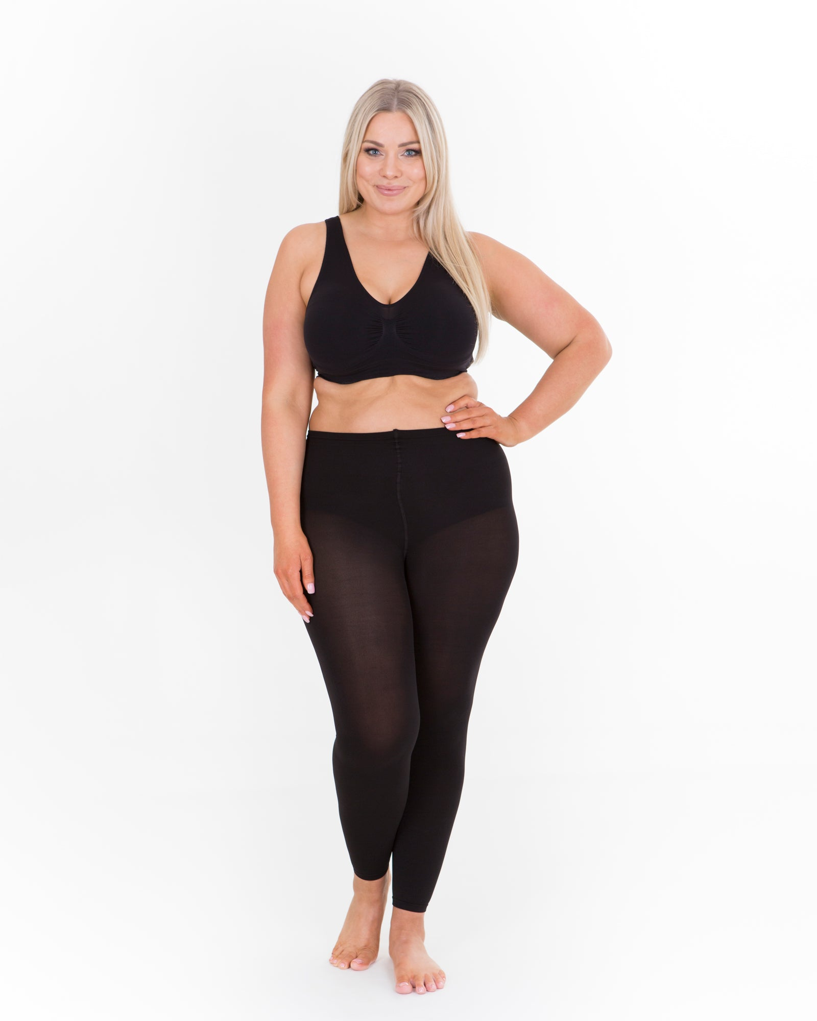 Sonsee Plus size footless tights