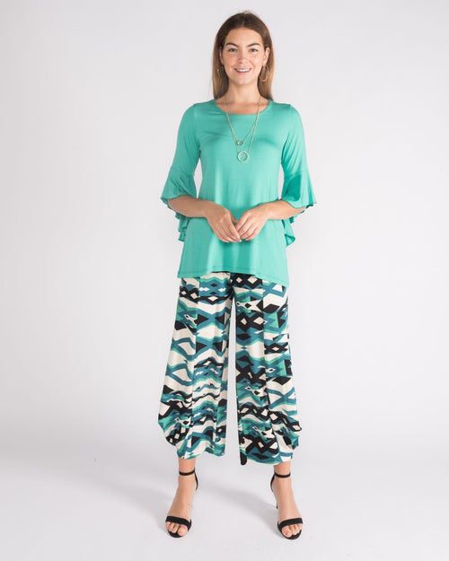 Kate Soft Knit Balloon Pants- Green size 10-18
