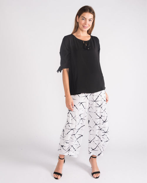 Kate Soft Knit Balloon Pants- Mono size 10-18