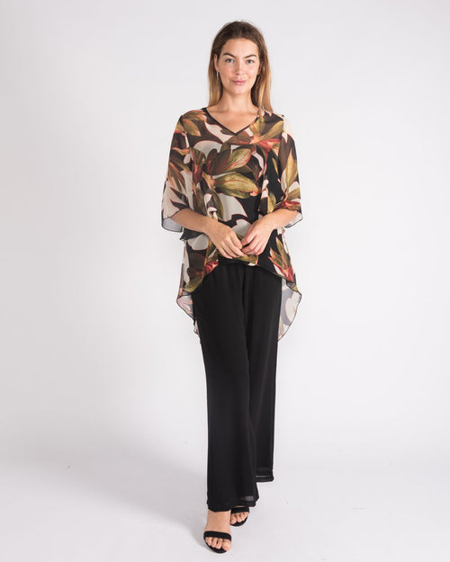 Cate Chiffon Top - Sizes 10-18