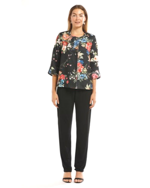 Printed Floral Ponti Jacket - Sizes 10-18