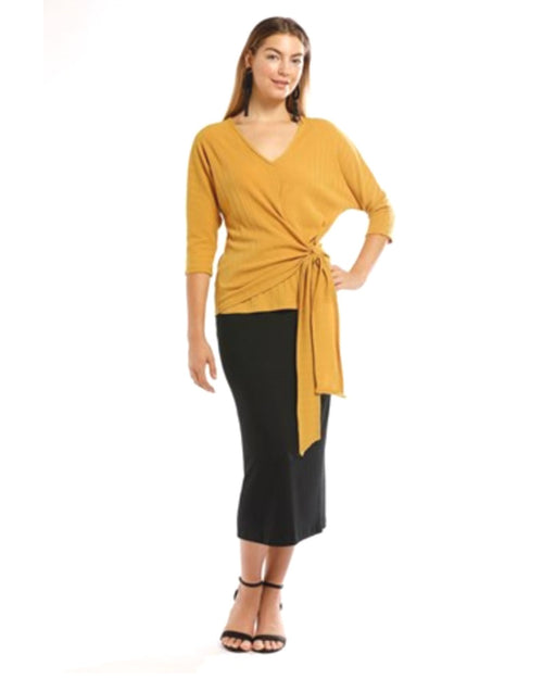 Olivia Tie Front Batwing Top Up to Size 18