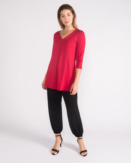 Swing Knit Top - Red - Sizes 10-18