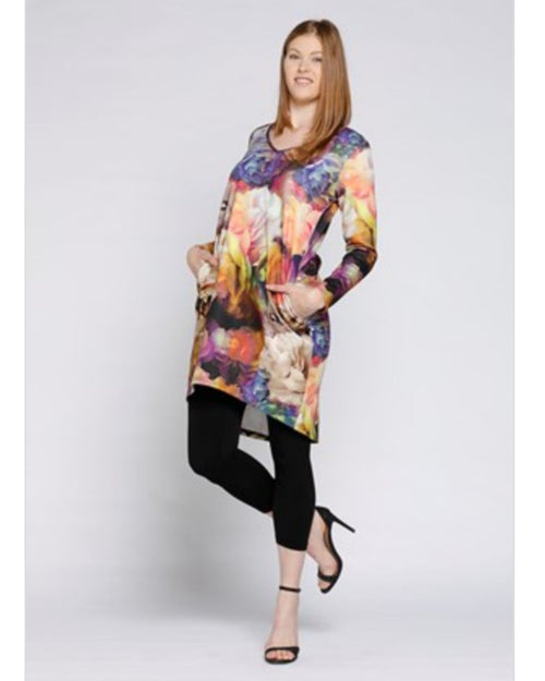 Ponti Tunic Top - Bright Floral Sizes 10-18
