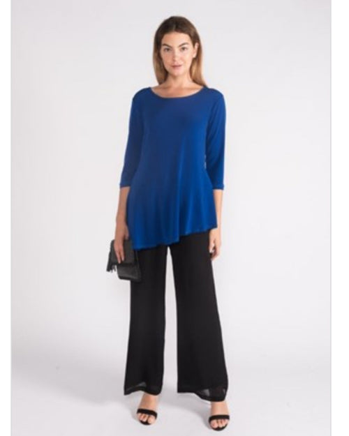 Grace Soft Knit Angle Top - Cobalt Sizes 10-18