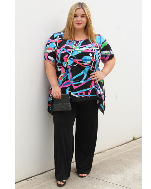 Eden Contrast Hem Top sold out of size 24, 26