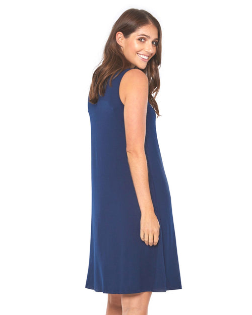 Bamboo Adele  Dress - Navy Size 10 -22